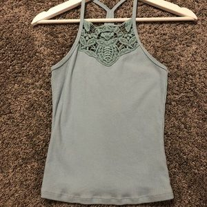 High neck tank-top